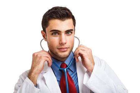 doctoring: Ritratto di un bel dottore Archivio Fotografico