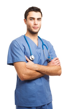 pathologist: Portrait of an handsome young doctor
