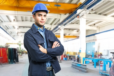 engineering design: Portrait of an engineer at work Stock Photo
