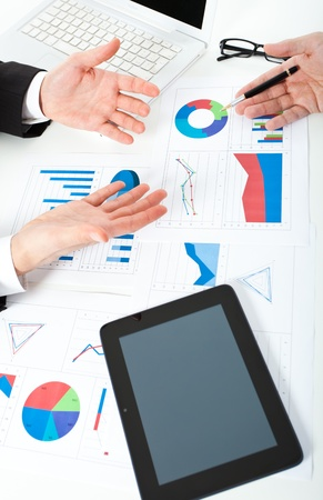 Business people at work during a meeting Stock Photo - 17696420