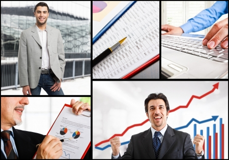 Composition of business people at work Stock Photo - 17792293