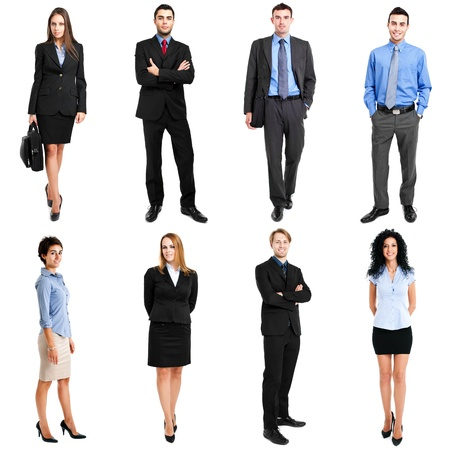 Collection of full length portraits of business people photo