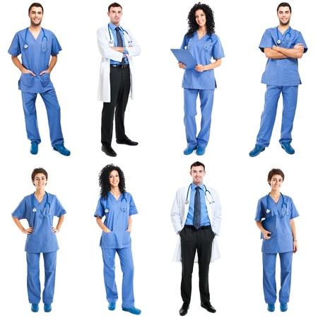 grupo de doctores: Colecci�n de retratos de cuerpo entero de trabajadores m�dicos