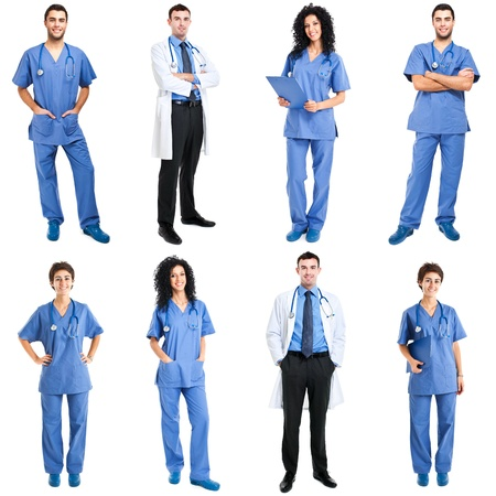 full length woman: Collection of full length portraits of medical workers