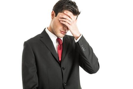 nerveux: Portrait d'un homme d'affaires inquiets