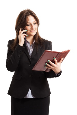 Portrait of a business woman at work Stock Photo - 17792185