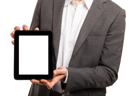 Man showing a tablet pc photo