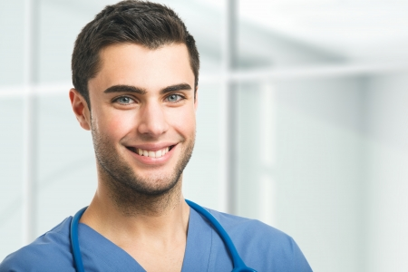 Portrait of an handsome doctor Stock Photo - 17792266
