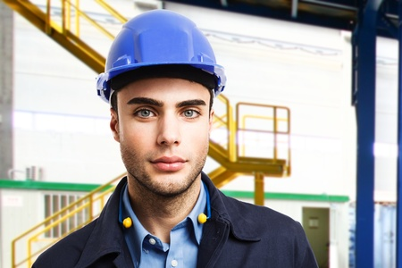 Portrait of an engineer in a production facility Stock Photo - 17792260