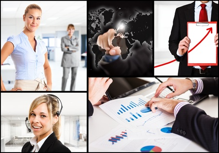 Composition of business related images Stock Photo - 18466231