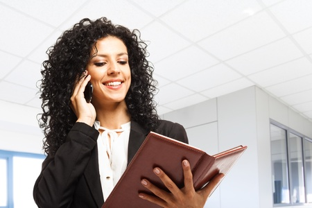 Portrait of a busy businesswoman at work Stock Photo - 18466165