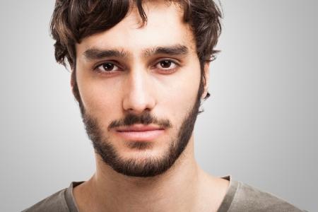 bigote: Retrato de un hombre joven y guapo Foto de archivo