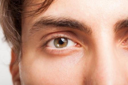 brown eye: Macro shot of a man