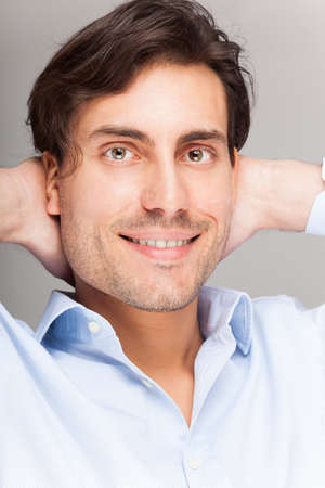 Portrait of a smiling handsome man Stock Photo - 18466160