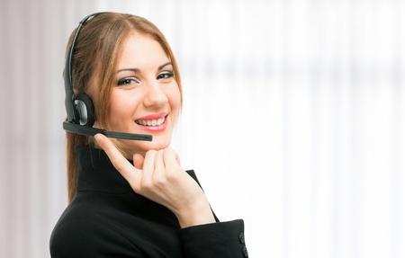 Portrait of a beautiful customer representative Stock Photo - 18468238