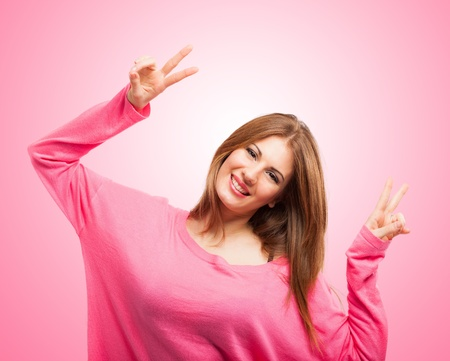 Portrait of a very happy young woman Stock Photo - 18466304