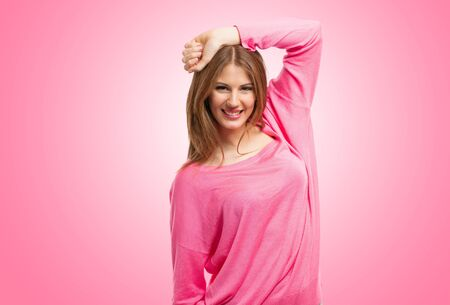 Portrait of a smiling beautiful woman Stock Photo - 18525078