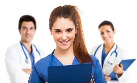 doctoring: Ritratto di una giovane e bella medico