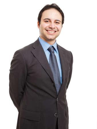 Porträt einer lächelnden Exekutive. Isoliert auf weißem