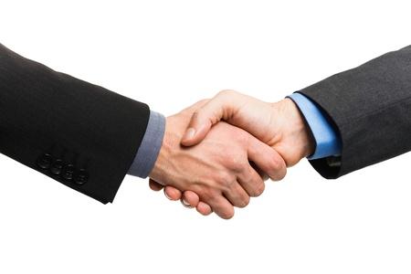 Businessmen shaking their hands