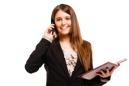 Portrait of a busy businesswoman at work Stock Photo - 18466460