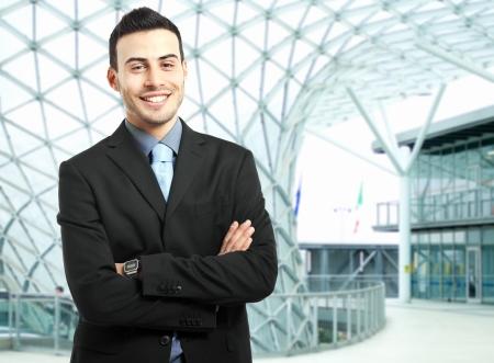 trust people: Portrait of a smiling businessman Stock Photo