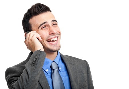 Portrait of an handsome businessman talking on the phone Stock Photo - 18665003