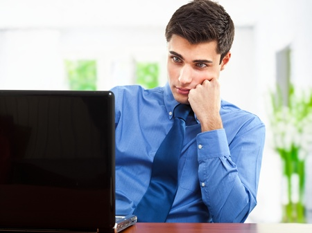 new employee: Portrait of an handsome young businessman Stock Photo