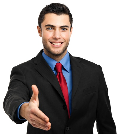 Portrait of an handsome young businessman Stock Photo