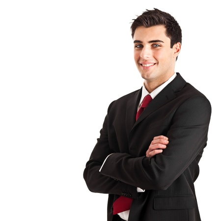 business intelligence: Portrait of an handsome young businessman Stock Photo