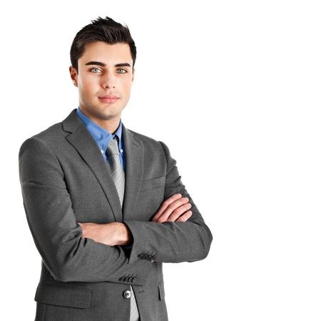회사: 잘 생긴 젊은 사업가의 초상화