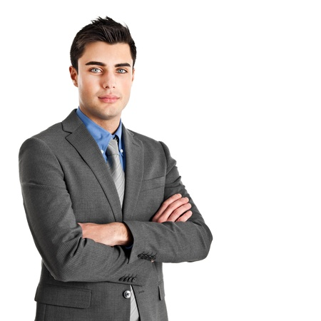entrepreneurship: Portrait of an handsome young businessman Stock Photo