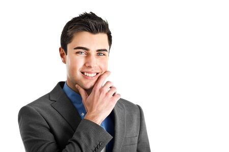 financier: Portrait of an handsome young businessman Stock Photo