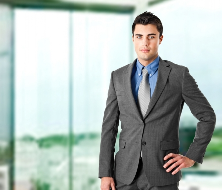 banker: Portrait of an handsome young businessman Stock Photo
