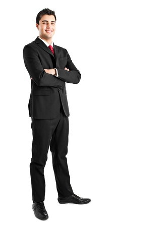 bank manager: Portrait of an handsome young businessman Stock Photo