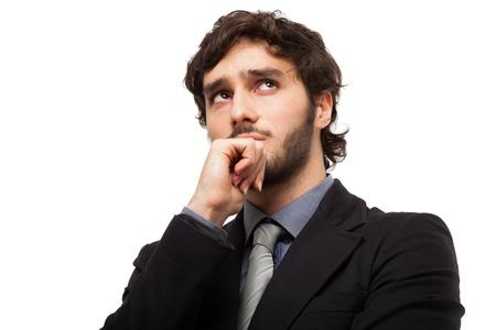 Portrait of a pensive businessman Stock Photo - 19567461
