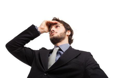 Portrait of a pensive businessman Stock Photo - 19567630