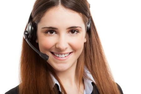 Friendly female phone operator portrait Stock Photo - 19567897