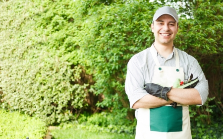 Porträt eines professionellen Gärtner Standard-Bild