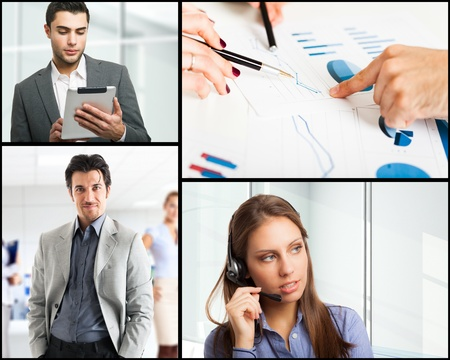 Composition of business themed pictures Stock Photo - 22207349