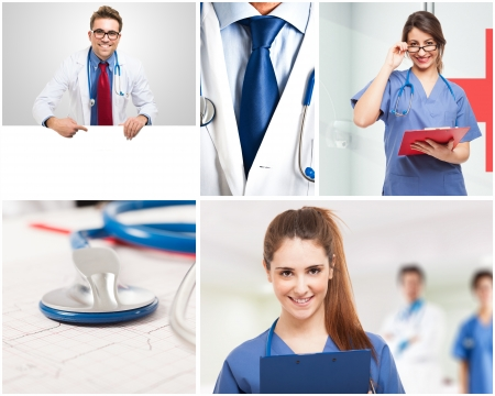 Portraits of medical people at work Stock Photo - 22207359