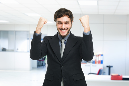 happiness or success: Portrait of an happy businessman Stock Photo