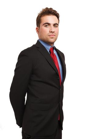 mature businessman: Portrait of a young handsome businessman