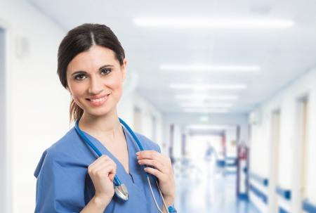 아름 다운 미소 간호사의 초상화