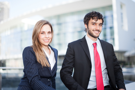 associates: Portrait of two business partners