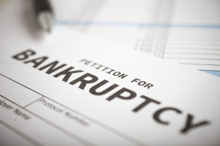 bankrupt: Close-up of a bankruptcy petition