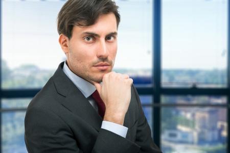handome: Portrait of an handome young man