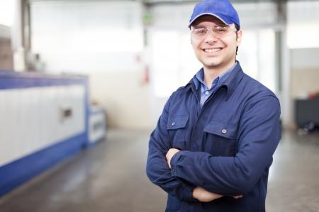 ouvrier: Portrait d'un travailleur dans une usine