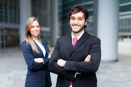 urban environments: Business people in an urban environment Stock Photo