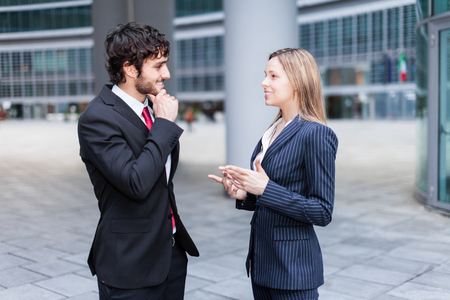 Discussion between business people Stock Photo - 22784430